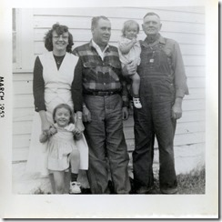 Mills LtoR Dalsie with Jo Floyd and Milton with Jacq March 1953